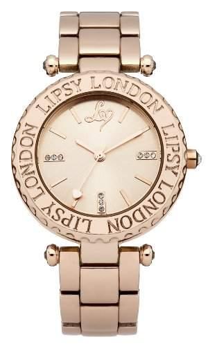 LIPSY Damen-Armbanduhr Analog Quarz Edelstahl LP167
