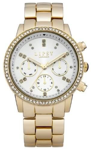 LIPSY Damen-Armbanduhr Analog Quarz Edelstahl LP168