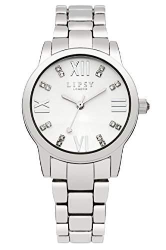 Lipsy Damen Quarzuhr mit Silber Zifferblatt Analog-Anzeige und Silber Armband LP259