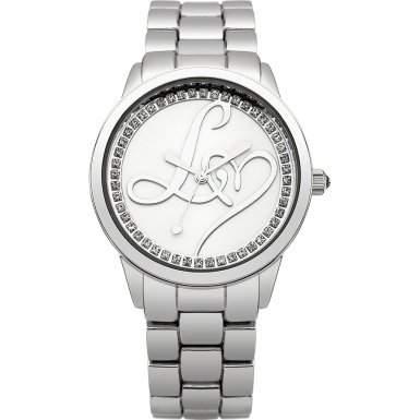 Lipsy Damen Quarzuhr mit Silber Ton Zifferblatt Analog-Anzeige und Silber Ton Armband LP295