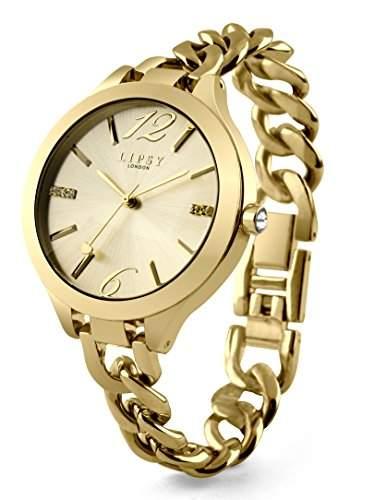 Lipsy women- Armbanduhr Analog Quarz gold Armband LP366 andere