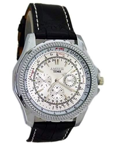 Sportlicher Herren Uhr U-49 Chrono Dubai Weisses Ziffernblatt