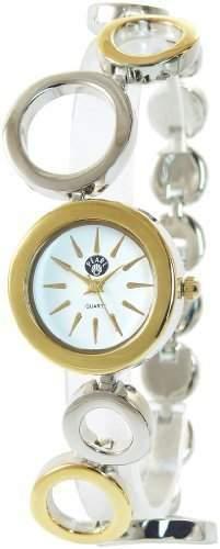 Pearl Damenuhr Weiss Gold Silber Analog Metall Armbanduhr Mode Schmuck Uhr
