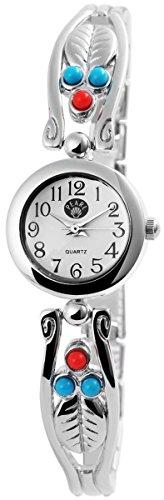 Damen Analog Armbanduhr mit Quarzwerk 100422000195 und Metallgehaeuse mit Metallarmband und Clipverschluss Bandgesamtlaenge 19 cm Armbandbreite 12 mm