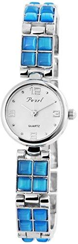 Damen Analog Armbanduhr mit Quarzwerk 100422000172 und Metallgehaeuse mit Metallarmband und Clipverschluss Bandgesamtlaenge 19 cm Armbandbreite 11 mm