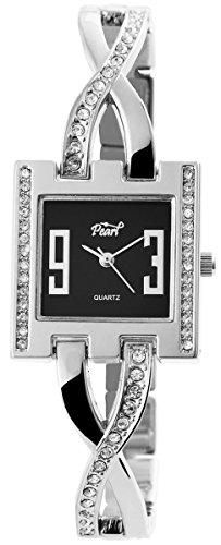 Damen Analog Armbanduhr mit Quarzwerk 100421000198 und Metallgehaeuse mit Metallarmband und Clipverschluss Bandgesamtlaenge 19 cm Armbandbreite 13 mm