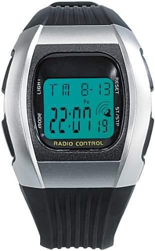 "PEARL Digitale Unisex-Sport-Funkuhr mit LCD-Display ""SW-640 dcf"""