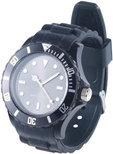 PEARL Silikon Armbanduhr schwarz