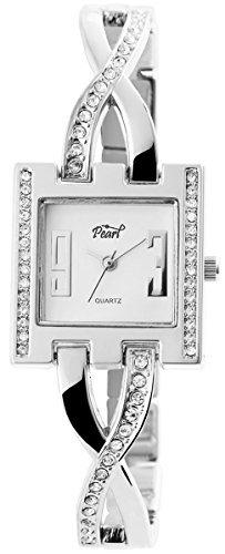 Pearl Damenuhr mit Metallarmband Armbanduhr Uhr 100422000152