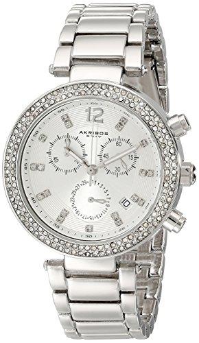 Akribos XXIV Diamant und Kristall akzentuierten Schweizer Chronograph Quarz