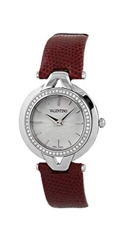 Valentino Stainless Steel & Diamond Casual V-Valentino Womens Strap Watch V38SBQ-9102-S800