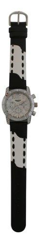WAOOH Uhr 03873A Schwarz Weiss Leder Armband 1