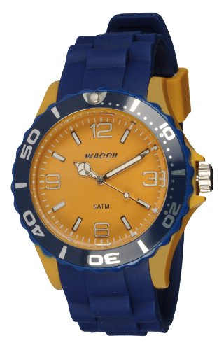 Waooh Uhr MC42 Bicolor Blau Sengelb