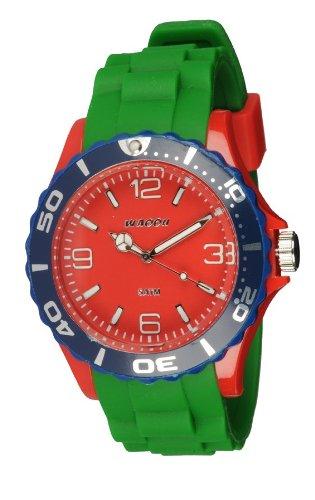 Waooh Uhr MC42 Tricolor Gruen Rot Blau