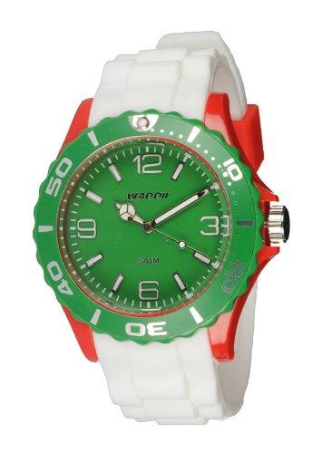 Waooh Uhr MC42 Tricolor Weiss Rot Gruen