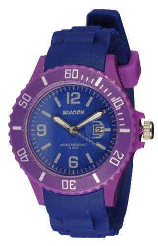 Waooh Uhr Monaco34 Bicolor Blau Violett
