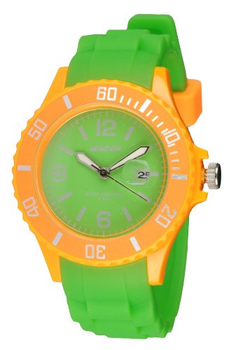Waooh Uhr Monaco38 Bicolor Gruen orange