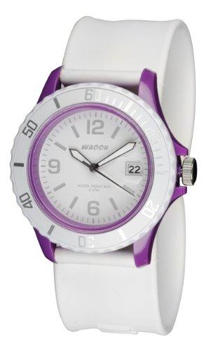 Waooh Uhr Roller white Farbe koffer violett