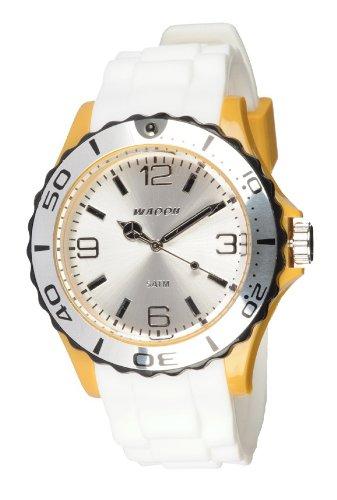 Waooh Uhr STM42 Tricolor Weiss Schwarz Sengelb