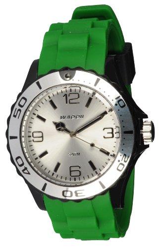 Waooh Uhr STM42 Tricolor Gruen Schwarz Weiss