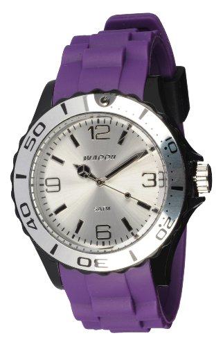 Waooh Uhr STM42 Tricolor Violett Schwarz Weiss