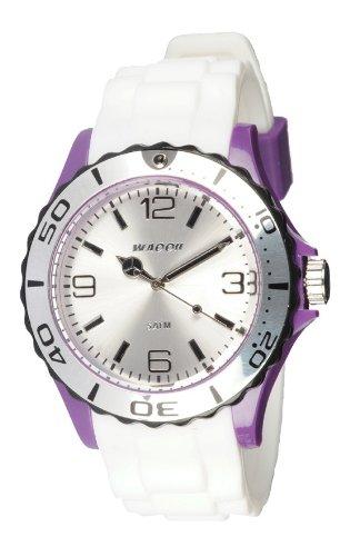 Waooh Uhr STM42 Tricolor Weiss Violett Schwarz