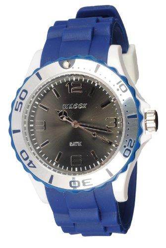 Waooh Uhr STM42 Tricolor Blau Weiss Schwarz