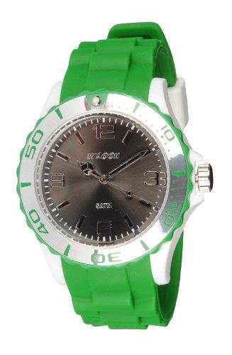 Waooh Uhr STM42 Tricolor Gruen Weiss Schwarz