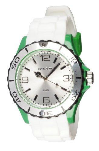 Waooh Uhr STM42 Tricolor Weiss Gruen Schwarz