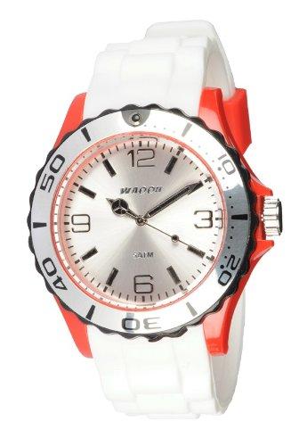 Waooh Uhr STM42 Tricolor Weiss Rot Schwarz