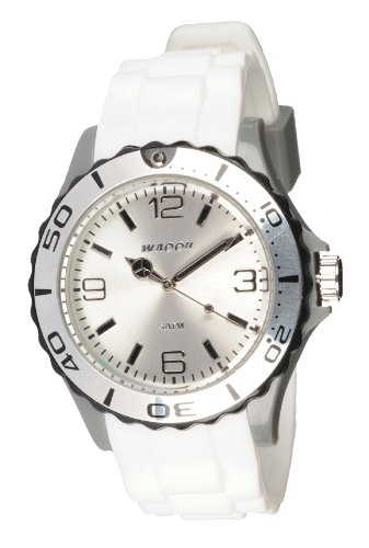 Waooh Uhr STM42 Tricolor Weiss Grau Schwarz