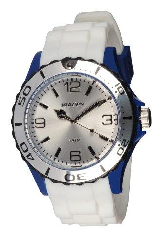 Waooh Uhr STM42 Tricolor Weiss Blau Schwarz