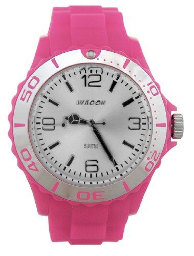 Waooh Uhr STM42 Zifferblatt Weiss Luenette Farbe Rosa Silver