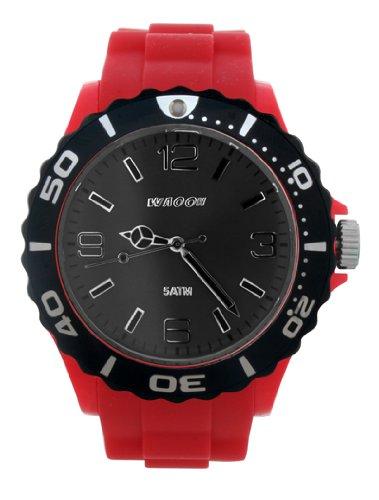Waooh Uhr STM42 Rot Zifferblatt Schwarz Luenette Schwarz