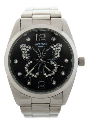 WAOOH Uhr 1719 Silver Armband Butterfly Zifferblatt