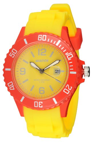 Waooh Uhr Monaco38 Bicolor Gelb Rot