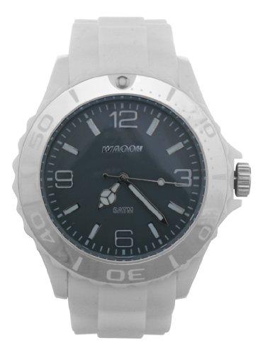 Waooh Uhr MC42 Weiss Zifferblatt Grau Luenette Weiss Silver