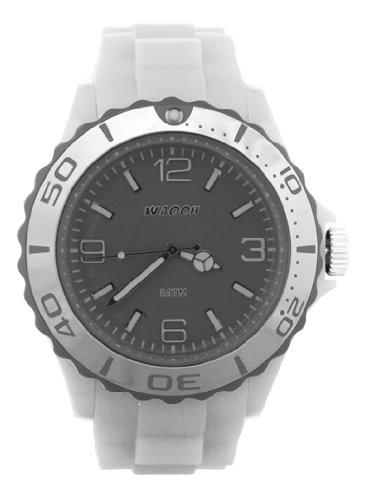 Waooh Uhr MC42 Weiss Zifferblatt Luenette Farbe Grau Silver