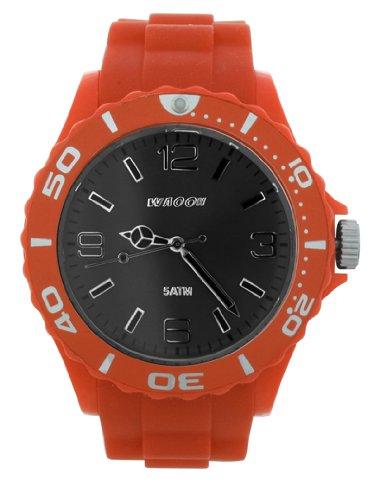Waooh Uhr STM42 Zifferblatt Schwarz Luenette Farbe Orange