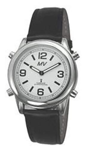 sprechende analoge unisex Funkuhr Armbanduhr Blindenuhr Lederarmband 1136L 40mm