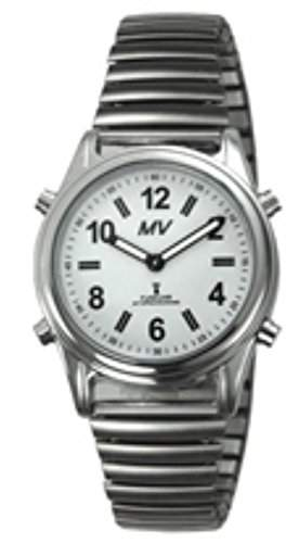 sprechende analoge Damen-Funkuhr Armbanduhr Blindenuhr Zugarmband 1138V 35mm