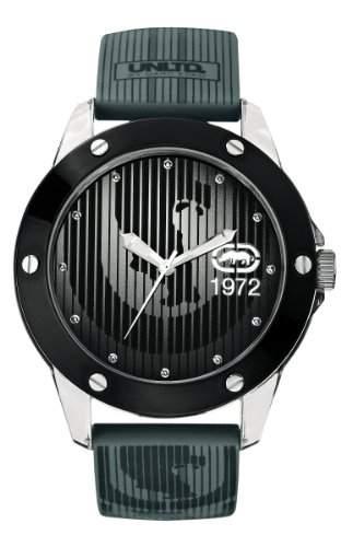 Marc Ecko Herren-Armbanduhr The Tran e09520g4mit grauem Zifferblatt und grau Silikon Strap