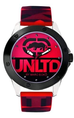 Ecko Unlimited Herren-Armbanduhr Analog rot E09520G5