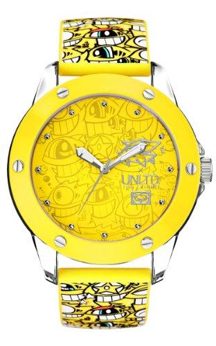 Marc Ecko Mendie Tran Yellow Dial Watch E09530G7 und Silikonarmband gelb
