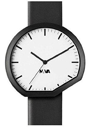 Nava T018 BE Damen Schwarzes Lederband Weisses Zifferblatt 0430bi Analoges Uhr
