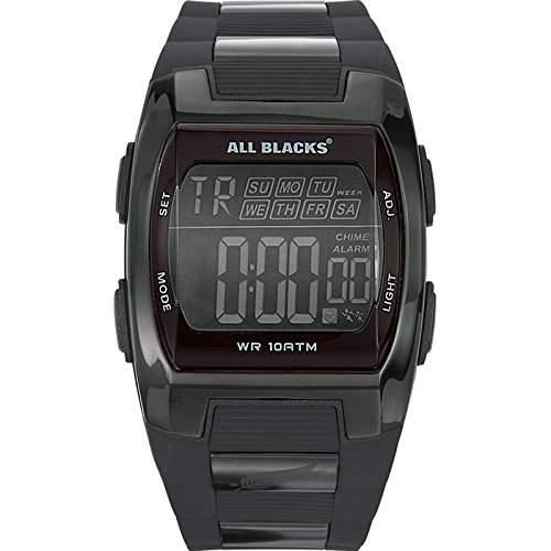 All Blacks Herren-Armbanduhr Digital Quarz Kunststoff 680024