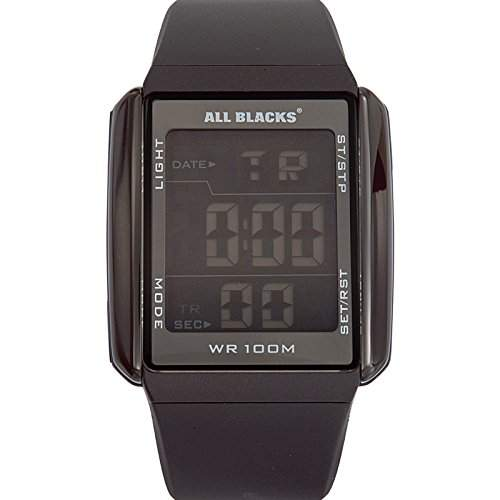 All Blacks Herren-Armbanduhr Digital Quarz Silikon 680033
