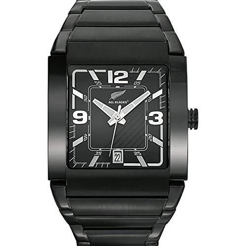 All Blacks Herren-Armbanduhr Analog Quarz Schwarz 680115