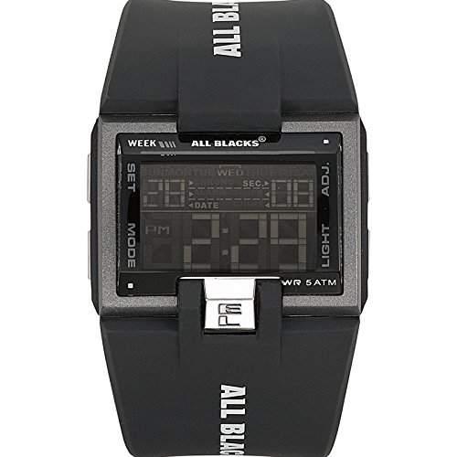 All Blacks Herren-Armbanduhr Digital Quarz Schwarz 680128