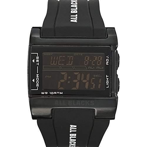All Blacks Herren-Armbanduhr Digital Quarz Schwarz 680131